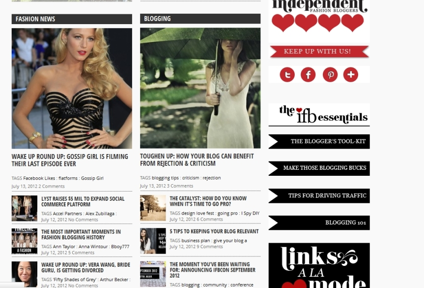 Independent Fashion Blogger (iFB) Relaunches Its Website
