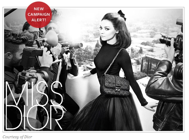 New Campaign Alert: Mila Kunis Models for Christian Dior