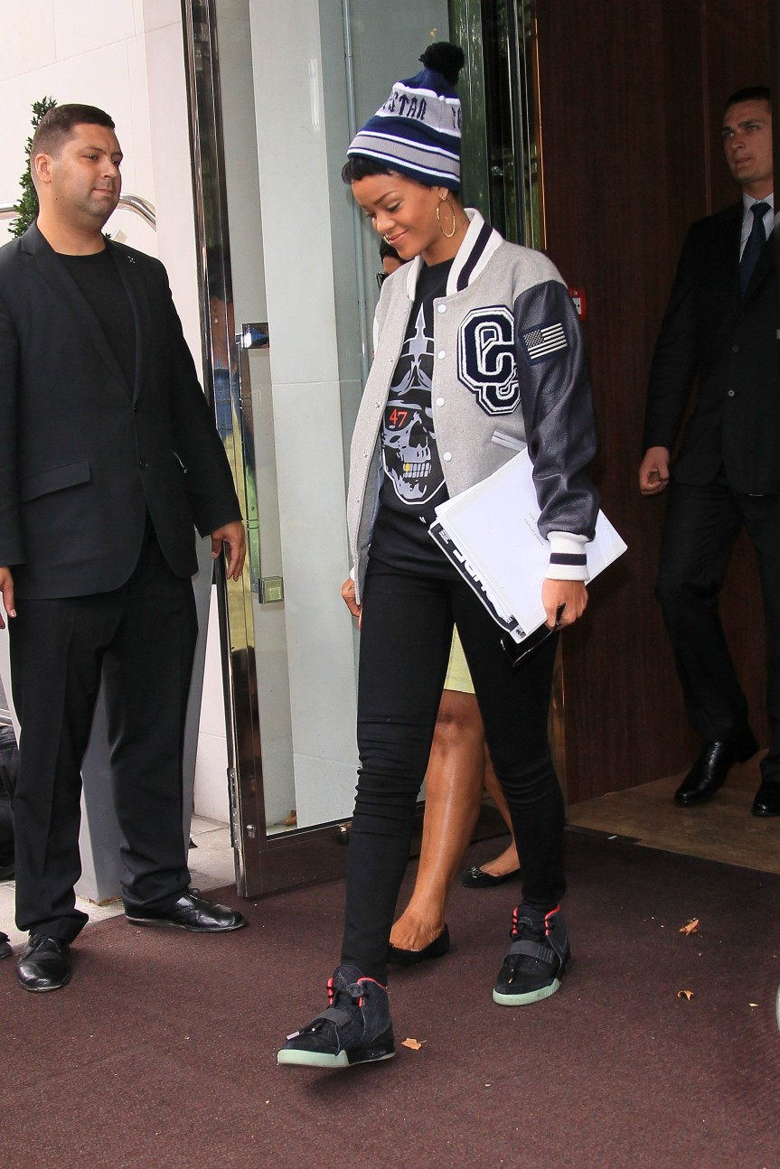 Rihanna Catches A Flight Out of London's Heathrow Airport